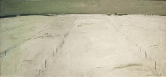 "Les champs blancs, 1956, Oil on canvas, 20½'' x 43''<span class=""sold"">sold</span>"